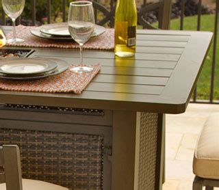 party    favorite bar height fire pit table