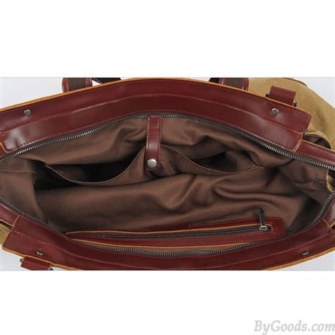 Fashionable Leather Retro Splicing Black - retro splicing real leather large capacity canvas travel