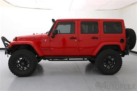 lifted jeep red jeep rubicon 4 door lifted www imgkid com the image
