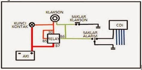cara membuat rangkaian alarm sepeda motor skema
