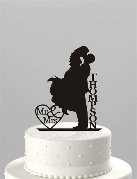 Topper Siluet Wedding Acrilik wedding cake topper silhouette mr mrs personalized with last name acrylic cake topper