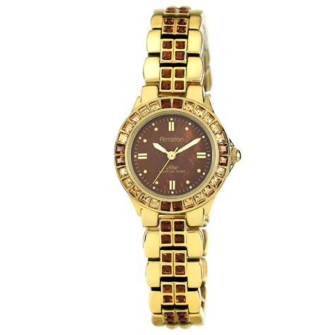 Armitron Ladies Black and Gold Tone Bracelet Watch   Jewelry   Watches   Women's Watches