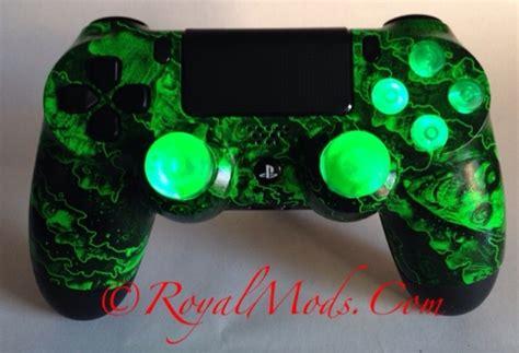 custom playstation 4 ps4 led lights modded controller bio