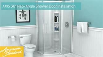 american standard neo angle shower door how to install american standard axis 38 quot neo angle