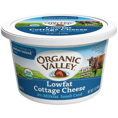 Organic Cottage Cheese Nutrition by Organic Valley Lowfat Small Curd 2 Milkfat Cottage Cheese