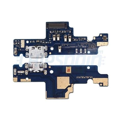 Pcb Konektor Connector Charger Xiaomi Redmi Note 4x charging port and microphone ribbon flex cable replacement xiaomi redmi note 4x chipspain