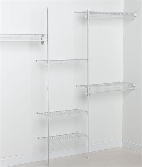 fixed mount closet organizer kit white 5 to 8