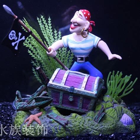 adornment box for ornamental air with fish tank fish tank decoration in cleaning tools from