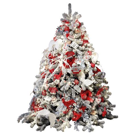 christbaum modern schmücken deko christbaum 180 cm rot wei 223 dekoration bei dekowoerner