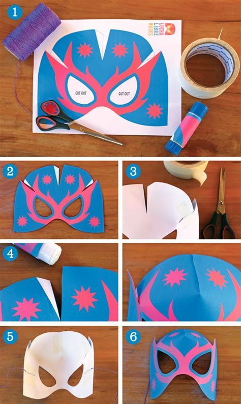 How To Make A Paper Mask Step By Step - make lucha libre masks afordable no sew mask template