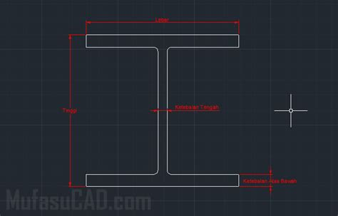 tutorial membuat gambar 3d dengan autocad membuat 2d dan 3d h beam dengan autocad mufasucad com