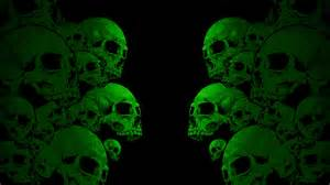 Download Wallpaper 1920x1080 Skull, Paint, Color