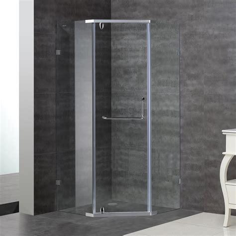 Frameless Neo Angle Shower Doors Aston Sen973 Neo Angle Semi Frameless Shower Enclosure Atg Stores