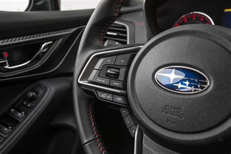 subaru impreza steering wheel 2017 subaru impreza sedan and hatchback first test