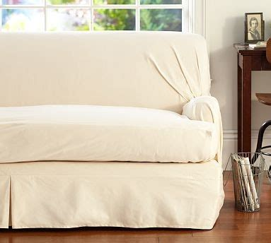 loose sofa slipcover twill t arm cushion separate seat tailored loose fit