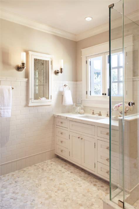 bathroom design help white subway tile marble hexagon flooring white molding
