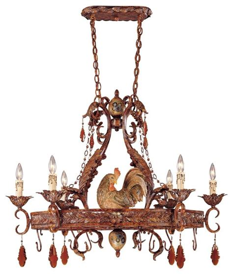 Savoy House Clyde Country Pot Rack Rooster Chandelier 1 Rooster Chandelier
