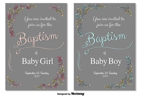baptism card template baptism invitation card template vector free