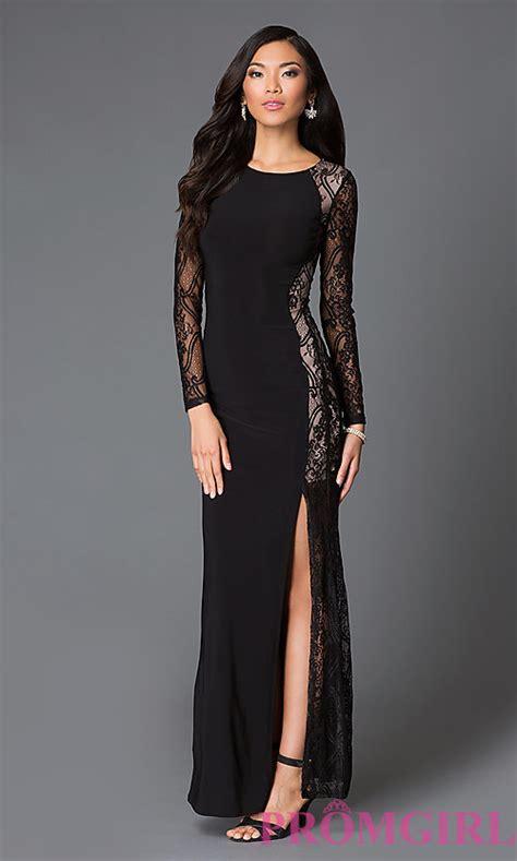 Sleeve Floor Length Black Dress by Black Sleeve Floor Length Lace Dress Promgirl