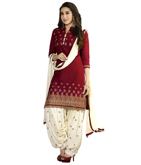 girls dess plazo dess photo patiala house maroon cotton dress material buy patiala