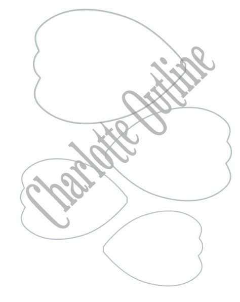 Diy Giant Paper Flower Printable Templates Flower Template Large Paper Flower Template Printable