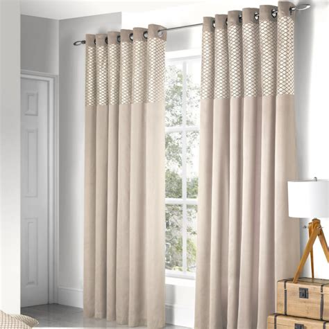 cream panel curtains design savoy panel eyelet fully lined ready made curtains