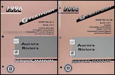 car repair manuals online pdf 1996 buick riviera transmission control 1996 olds aurora buick riviera repair shop manual original 2 volume set