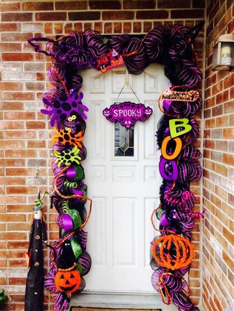 decorative mesh for doors my halloween mesh deco garland for my own door please like
