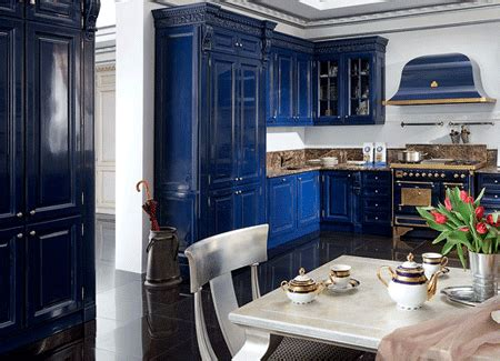 Navy Blue Kitchen Cabinets by Princess County Navy Blue