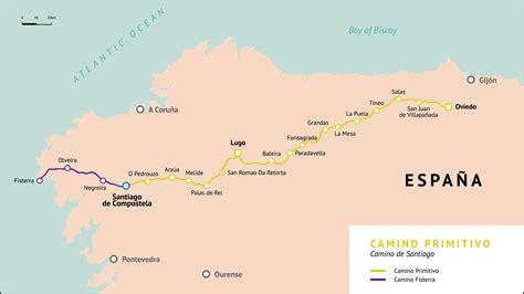 camino de santiago mappa mapa camino primitivo camino de santiago
