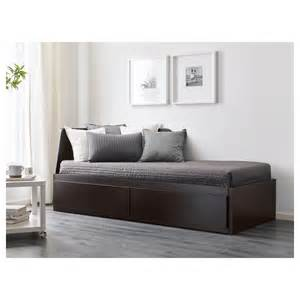 Ikea Daybeds Guest Beds Flekke Day Bed W 2 Drawers 2 Mattresses Black Brown