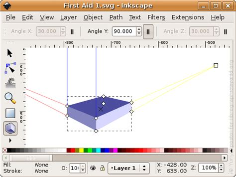 inkscape tutorial 3d box draw a first aid kit with inkscape libre graphics world