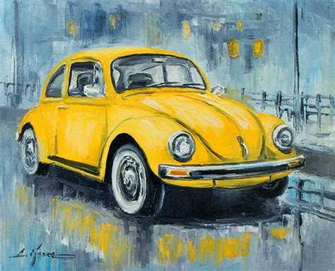 Vw Beetle Painting By Luke Karcz