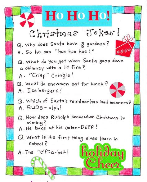 santa riddles jokes for printables jokes for and calendar
