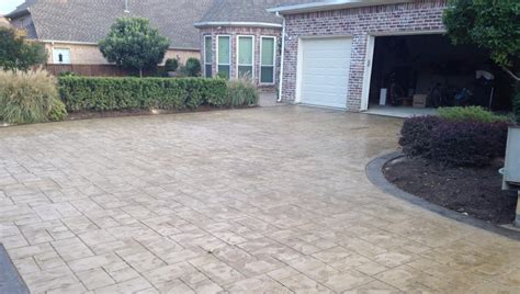 natural stone driveway decorative concrete driveways to enhance your home