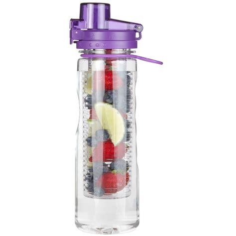 Infused Water Bottle Purple Fruit Infused Water Bottle 25 Oz Leak Proof Flip