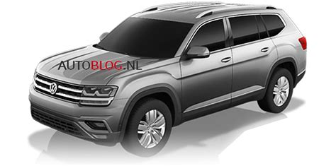 volkswagen atlas 2017 2017 volkswagen atlas production crossblue suv to debut