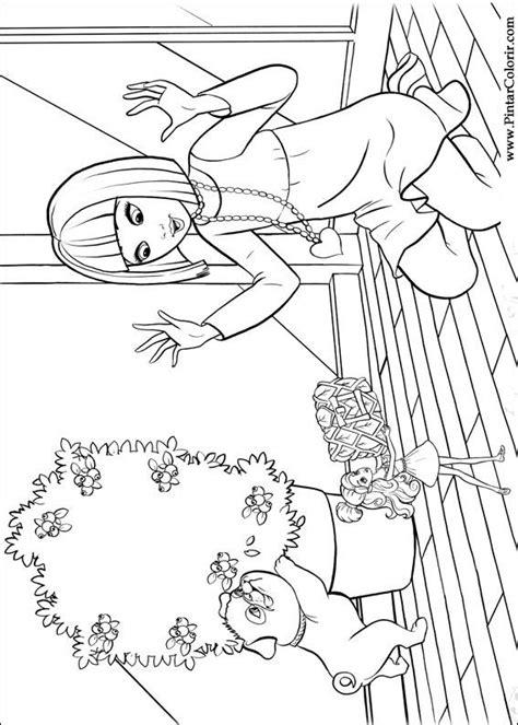 Desenhos Para Pintar e Colorir Barbie Polegar - Imprimir