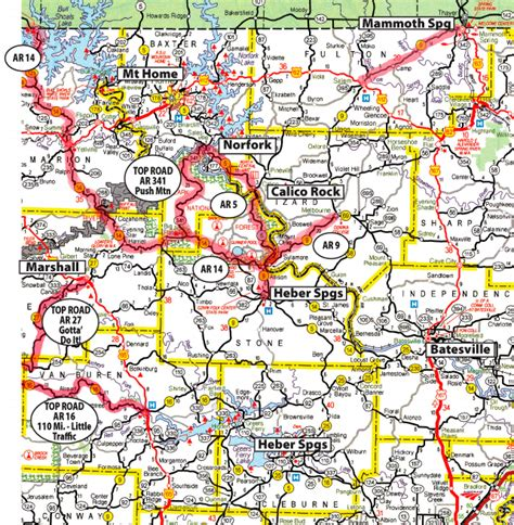 printable road map arkansas cruise the ozarks motorcyclist s guide to riding in the