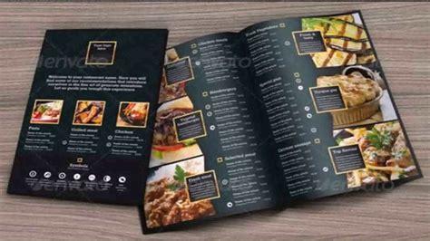 photoshop menu layout restaurant menu design templates photoshop youtube