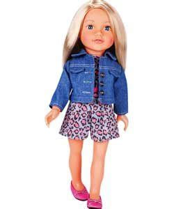 design a friend jubilee doll chad valley design a friend pink playsuit and denim jacket