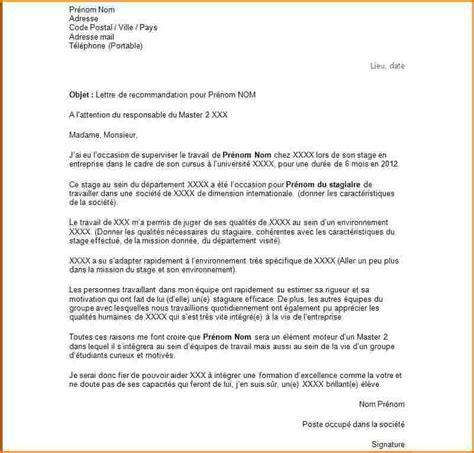 Lettre De Recommandation Pour Demande De Visa 10 Exemple Lettre De Recommandation Lettre De Demission
