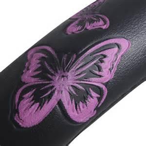 Steering Wheel Covers Butterfly Pink Black Butterfly Design Car Steering Wheel Cover 15