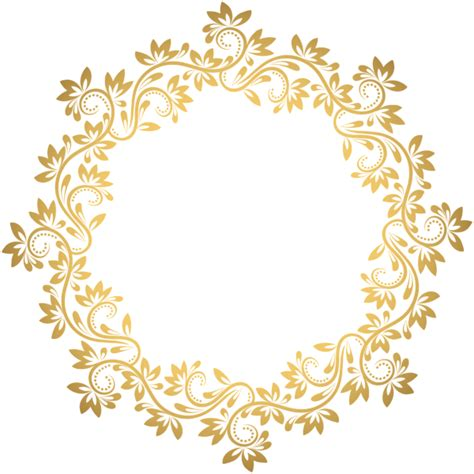 golden pattern png gold deco round border png transparent clip art borders