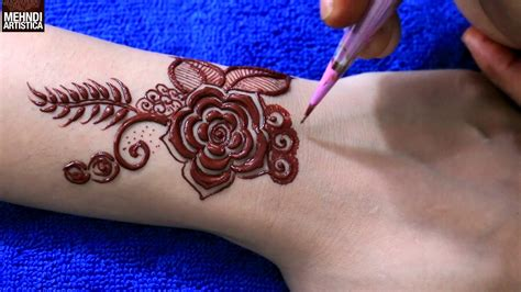 henna tattoo design ideas unique coloured floral mehndi design for beginners