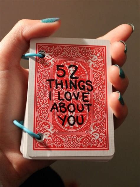 Deck Of Cards Gift For Girlfriend - cute gift idea for someone you love deck of cards 52 things i love about you gift