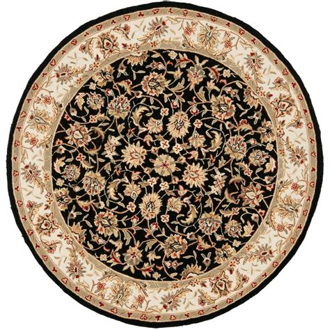 5 X 6 Area Rugs Safavieh Chelsea Black 5 Ft 6 In X 5 Ft 6 In Area Rug Hk78a 5r The Home Depot