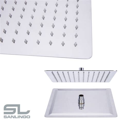 doccia pioggia soffione doccia pioggia acciaio inox ultra piatto quadrato