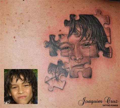 portrait puzzle tattoo by tattoo power