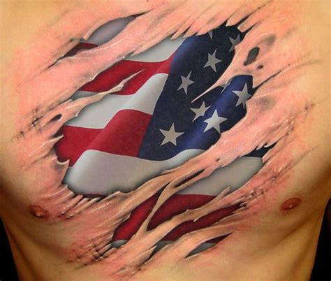 american flag ripped skin tattoo trendy and american flag tattoos designs and ideas